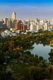 Bangkok sky line with park before sunset, Bangkok, Thailand. Stock Photo