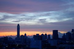 Bangkok sky scrapper at dawn Stock Photos