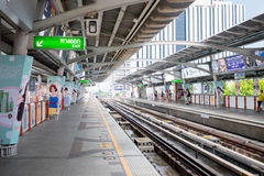 Bangkok sky train station Stock Photos