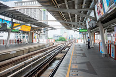 Bangkok sky train station Stock Photography