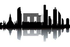 Bangkok skyline stock illustration