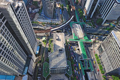 Bangkok skyline from bird eye view Stock Images