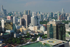 Bangkok skyline from bird eye view Royalty Free Stock Images