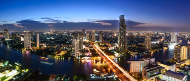 Bangkok skyline cityscape in Thailand Royalty Free Stock Photo