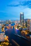 Bangkok Skyline downtown River Stock Images