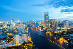 Bangkok Skyline at dusk Stock Image