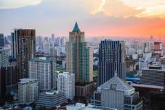 Bangkok skyline at dusk Royalty Free Stock Photography