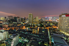 Bangkok skyline at dusk Stock Photos