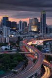 Bangkok skyline with express way Royalty Free Stock Images