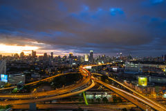Bangkok skyline with express way Royalty Free Stock Photography
