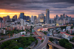Bangkok skyline with express way Royalty Free Stock Image