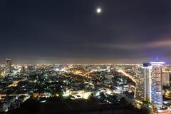 Bangkok Skyline Lights. A shot of Bangkok skyline up close at night Royalty Free Stock Photography