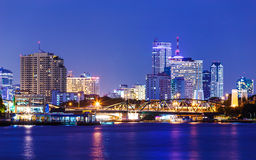 Bangkok skyline at night Royalty Free Stock Images