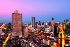 Bangkok skyline at night Royalty Free Stock Photography