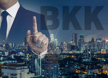 Bangkok skyline at night panorama Royalty Free Stock Image