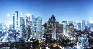 Bangkok skyline. At night, Thailand Royalty Free Stock Image