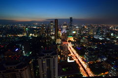 Bangkok skyline by night. Thailand Stock Image