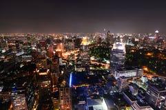 Bangkok skyline by night. Thailand Stock Photos