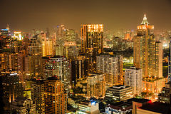 Bangkok skyline by night Stock Image