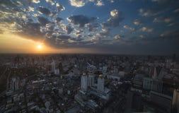 Bangkok Skyline at sunrise Stock Photo