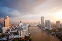 Bangkok Skyline sunset Stock Photography