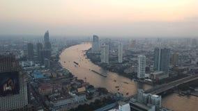 Bangkok Skyline during Sunset - Bangkok, Thailand. Royalty Free Stock Photo