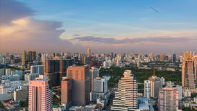 Bangkok skyline at sunset stock video footage