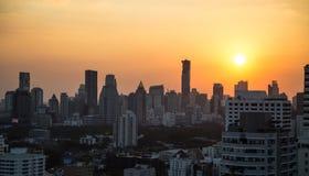 Bangkok skyline sunset panorama background Stock Photo