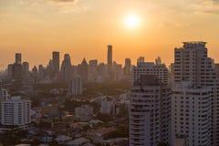 Bangkok skyline sunset panorama concept Stock Photo