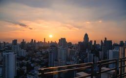 Bangkok skyline sunset panorama Stock Photos