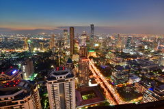 Bangkok skyline at sunset. Thailand Royalty Free Stock Photo