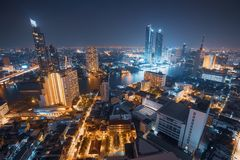 Bangkok-Skyline, Thailand Stockfotos