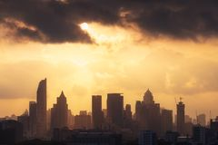 Bangkok-Skyline, Thailand Lizenzfreies Stockbild
