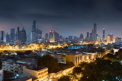 Bangkok-Skyline, Thailand Stockbilder