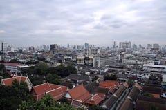 Bangkok city skyline thailand. Bangkok skyline with watt in foreground thailand Royalty Free Stock Photos