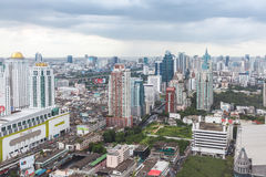 Bangkok skyline, Thailand. Bangkok city view from above, Thailand Royalty Free Stock Photos
