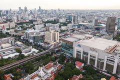 Bangkok skyline, Thailand. Bangkok city view from above, Thailand Royalty Free Stock Images