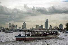 Bangkok Skyline. A view of Bangkok from the Chao Praya river Stock Photo