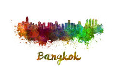 Bangkok skyline in watercolor Royalty Free Stock Images