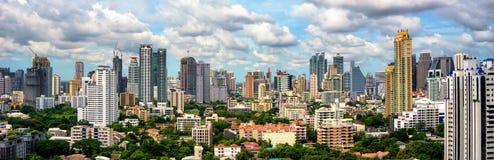 Bangkok-Skylinepanorama Stockfoto
