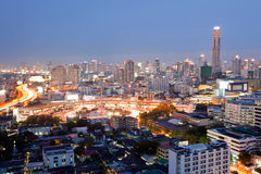 Bangkok Skylines downtown Stock Images