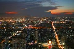 bangkok skymning Arkivfoton