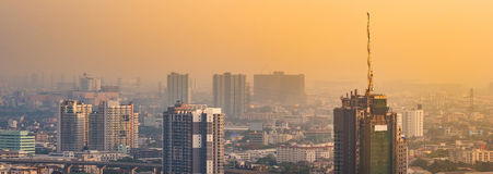 Bangkok Skyscraper view of many buildings Stock Images