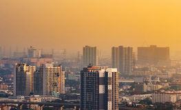 Bangkok Skyscraper view of many buildings Stock Image