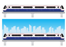 Bangkok skytrain with blue sky royalty free illustration