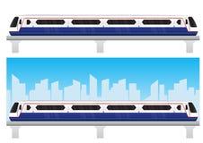 Bangkok skytrain with blue sky. Vector Royalty Free Stock Photography