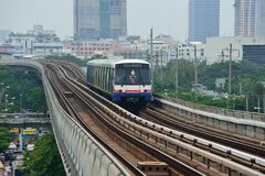 Bangkok Skytrain BTS Royalty Free Stock Photo