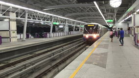 Bangkok skytrain stock footage