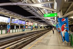 Bangkok skytrain Platform Royalty Free Stock Image