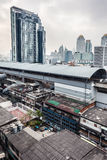 Bangkok skytrain station Stock Images